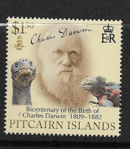 PITCAIRN ISLANDS,687, MNH, CHARLES DARWIN