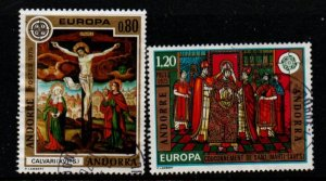 Andorra (Fr) Sc 236-37 1975 Europa stamp set used