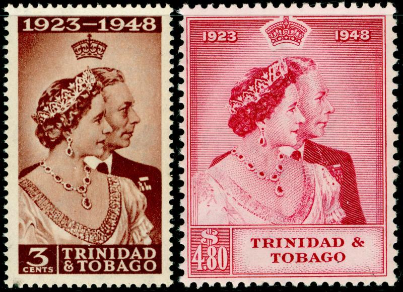 TRINIDAD AND TOBAGO SG259-260, COMPLETE SET, NH MINT. Cat £30. RSW.
