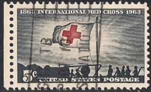 1239 5 cent International Red Cross VF used