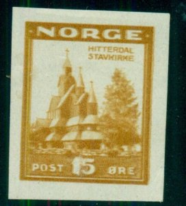 NORWAY 15ore Cathedral ESSAY in sepia, og, LH, VF