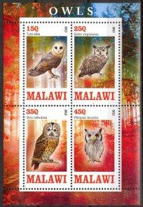Malawi 2013 Birds (1) Owls MNH Cinderella !