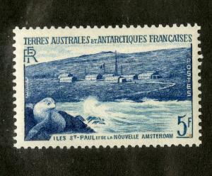 FRENCH SOUTH ANTARCTIC TERR 4  MNH SCV $2.40. BIN $1.50