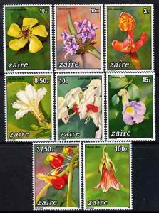 Zaire 1984 Flowers perf set of 8 unmounted mint SG 1187-94