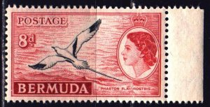 Bermuda. 1955. 139 from the series. Tropical Bird-Tailed Chaise. MNH.