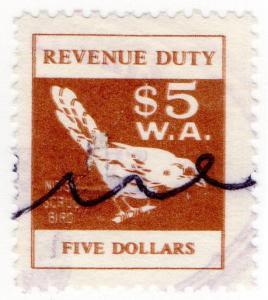 (I.B) Australia - Western Australia Revenue : Duty Stamp $5 (double print)