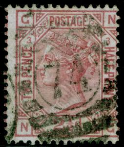 SG139, 2½d rosy mauve plate 3, USED. Cat £160. WMK ANCHOR. NG