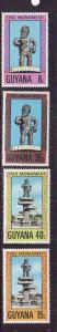 Guyana-Sc#263-6-unused NH set-Cuffy-National Hero-1977-
