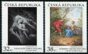 HERRICKSTAMP NEW ISSUES CZECH REPUBLIC Sc.# 3726-27 Paintings