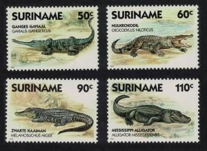 Suriname Gavial Crocodile Alligator Cayman Reptiles 4v SG#1358-1361