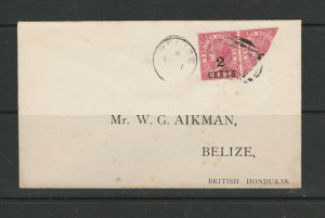 British Honduras 188/91 Aikman cover with bisect, SG 37