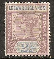 1890 Leeward Islands Scott 3 Queen Victoria MH