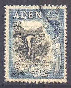 Aden Scott 58a - SG68, 1953 Elizabeth II 5/- Black used