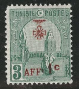 Tunis Tunisia Scott B22 MH* 1923 surcharged stamp