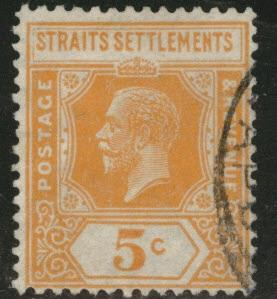 Straits Settlements Scott 186 wmk4 KGV 1923