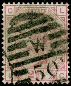 SG141, 2½d rosy mauve, USED. Cat £60. LC