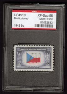 MALACK 910 XF-SUPERB OG NH, w/PSE (GRADED 95 ENCAPSULATED) en910
