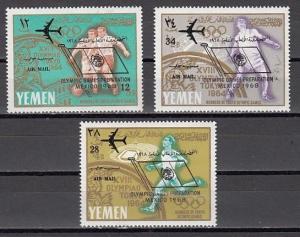 Yemen, Kingdom, Mi cat. 237-239 A. Olympics issue o/printed. *