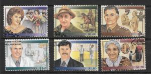 NEW ZEALAND SG1936/41 1995 FAMOUS NEW ZEALANDERS FINE USED