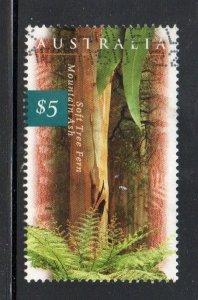 Australia Sc 1534 1996 $5 Mountain Ash stamp used