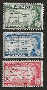 JAMAICA SC# 175-77   FVF/MNH