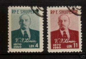 ALBANIA 1960 LENIN  SET 2  FU   SG643/44