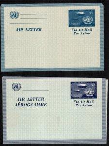UN UC1 UC2 letter sheet mint cat $35.00