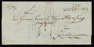 $German Stampless Cover, Lunebourg (department 128)