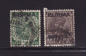 Burma O2, O4 U King George VI (B)
