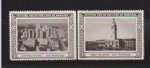 USA SAN FRANSISCO  CINDERELLA STAMPS (2).LOT#182