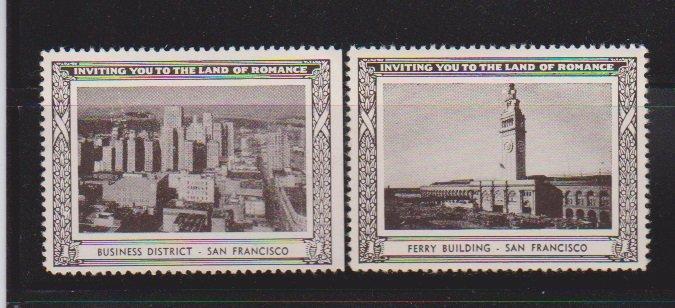 USA SAN FRANSISCO  CINDERELLA STAMPS (2).LOT#182