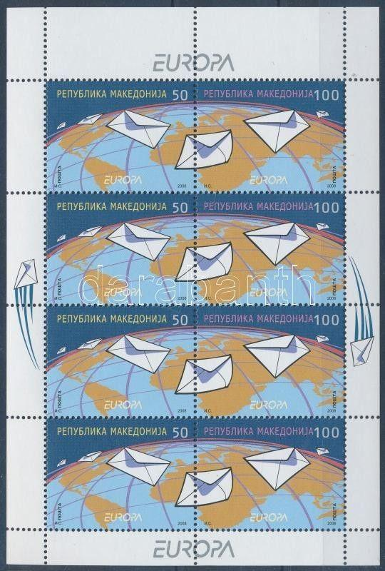 Makedonien stamp Europa CEPT minisheet MNH 2008 Mi 458-459 WS154966
