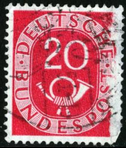 GERMANY #677 - USED FAULT - 1951 - GER136