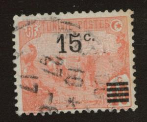 Tunis Tunisia Scott 63 used 1917 surcharged stamp