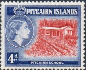 Pitcairn Islands 1957   4d School  MH