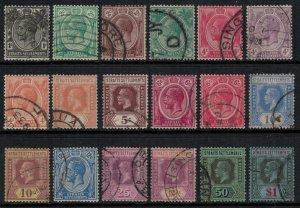 Straits Settlements #179-92,4-5,8-9  CV $23.10