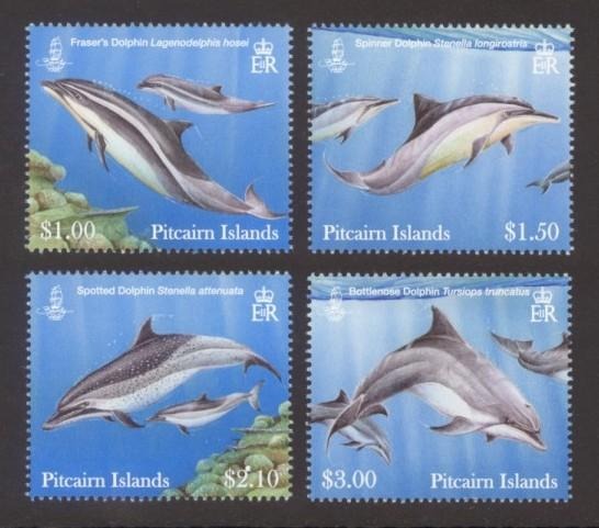Pitcairn Islands Sc# 733-6 MNH Dolphins