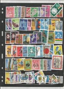 GHANA COLLECTION ON STOCK SHEET, MINT/USED