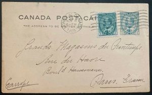 1905 Montreal Canada Postal Stationery Postcard Cover To Paris France