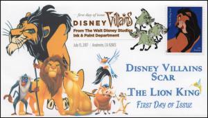 17-170, 2017, Disney Villains, Scar, The Lion King, DCP, FDC