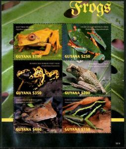 HERRICKSTAMP NEW ISSUES GUYANA Frogs Sheetlet