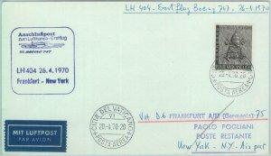 83100 - VATICANO - Postal History - FIRST FLIGHT:  Frankfurt - Milan 1970