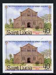 St Lucia 1986 St Joseph Church 40c (Christmas) imperf pai...