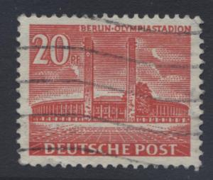 Germany-Occupation- Scott 9N102 -Olympic Stad. -1953 - VFU -Single 20pf Stamp