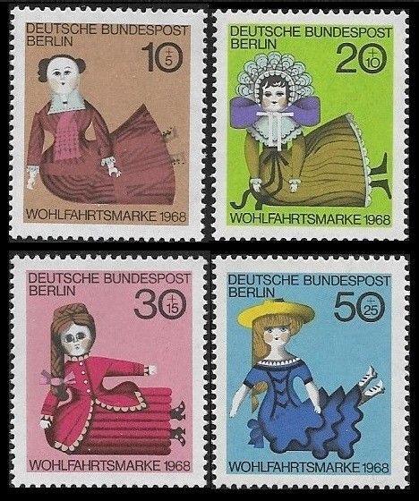 Germany (Berlin) 1968 Sitting Dolls SC# 9NB57-9NB60 MNH
