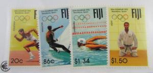 1992 FIJI SC #665-668 25th Olympics Barcelona, Spain  MNH stamps