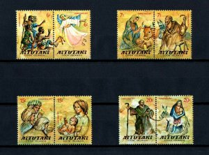 Aitutaki MNH 230-7 Christmas Nativity 1977