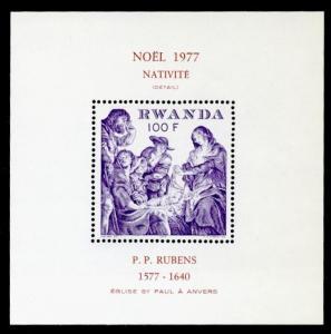 Rwanda 848 MNH Christmas, Art, Nativity, Rubens