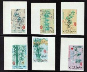 North Viet Nam - 1967 -  Sc 449 - 454 - Bamboo - Imperforation - MNH