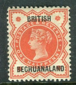 BECHUANALAND; 1897 early QV Optd. issue Mint hinged Shade of 1/2d. value